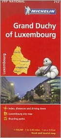 Michelin Luxembourg, Grand Duchy Map 717