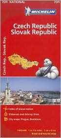 Michelin Czech & Slovak Republic Map 731