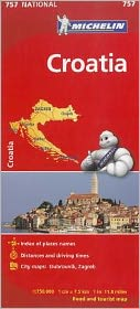 Michelin Croatia Map 757