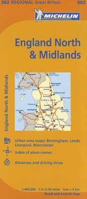 Michelin Map Great Britain: England North and the Midlands 502