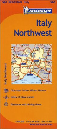 Michelin Italy: Northwest Map 561