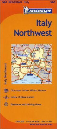 Michelin Italy: Northwest Map 561