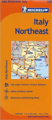 Michelin Italy: Northeast Map 562