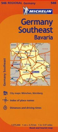 Michelin Germany Southeast Map 546