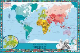 My Map of the World : Michelin children's wall map