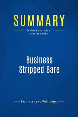 Summary: Business Stripped Bare - Richard Branson