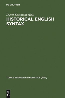 Historical English Syntax (K