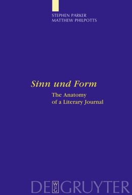 Sinn und Form: The Anatomy of a Literary Journal
