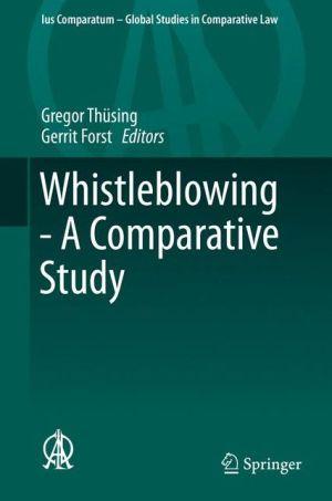 Whistleblowing - A Comparative Study