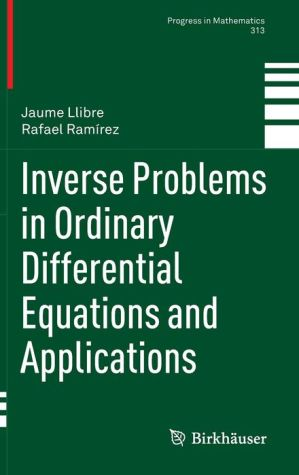 Inverse Problems in Ordinary Differential Equations and Applications
