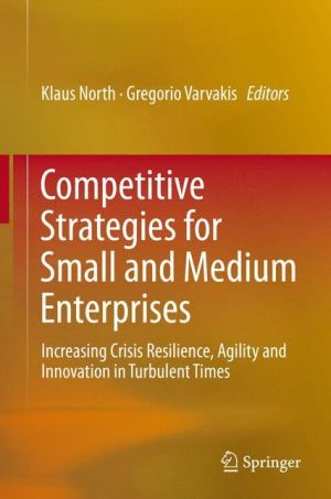 Competitive Strategies for Small and Medium Enterprises: Increasing Crisis Resilience, Agility and Innovation in Turbulent Times