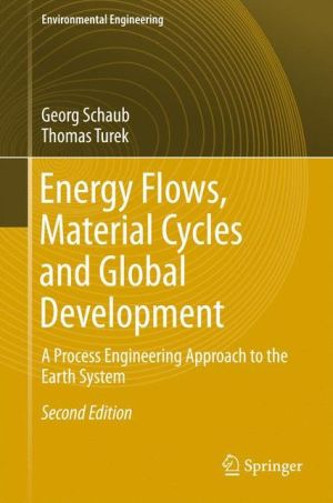 Energy Flows, Material Cycles and Global Development: A Process Engineering Approach to the Earth System