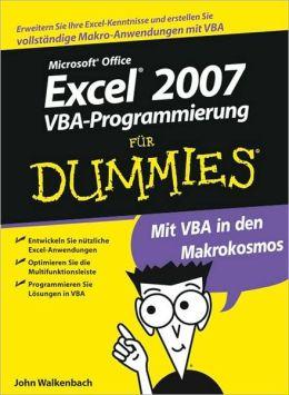 Excel 2007 VBA-Programmierung fur Dummies