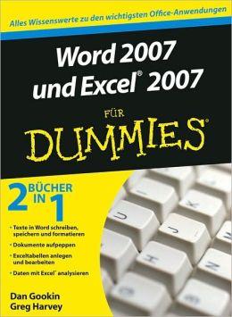 Word 2007 und Excel 2007 fur Dummies