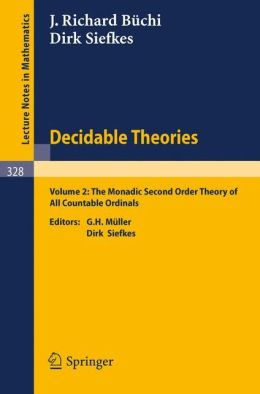 Decidable Theories: Vol. 2: The Monadic Second Order Theory of All Countable Ordinals