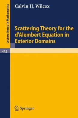 Scattering Theory for the d'Alembert Equation in Exterior Domains