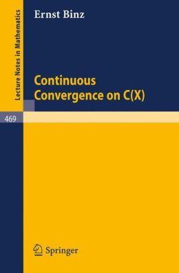 Continuous Convergence on C(X)