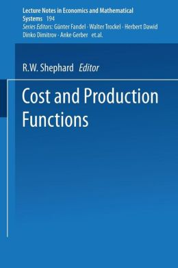 Cost and Production Functions