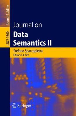 Journal on Data Semantics II