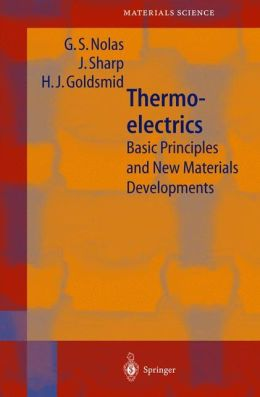 Thermoelectrics: Basic Principles and New Materials Developments