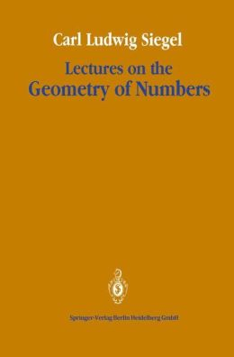 Lectures on the Geometry of Numbers