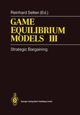 Game Equilibrium Models III: Strategic Bargaining