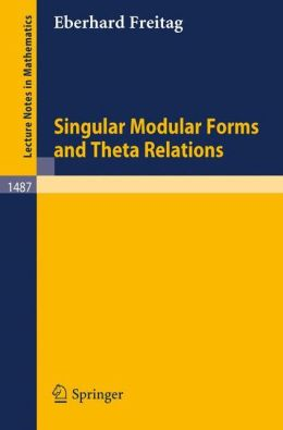 Singular Modular Forms and Theta Relations
