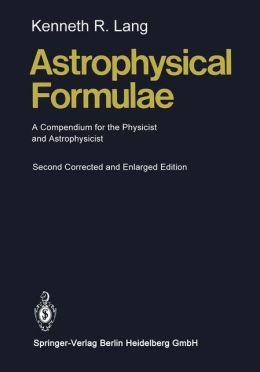 Astrophysical Formulae