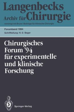 111. Kongress der Deutschen Gesellschaft für Chirurgie München, 5.-9. April 1994
