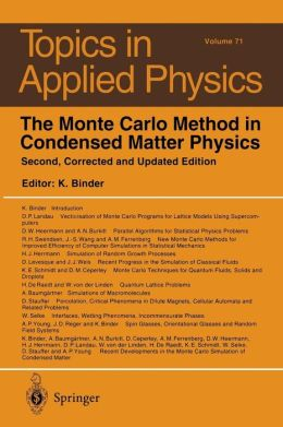 The Monte Carlo Method in Condensed Matter Physics