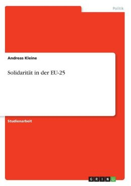 Solidarit T In Der Eu-25