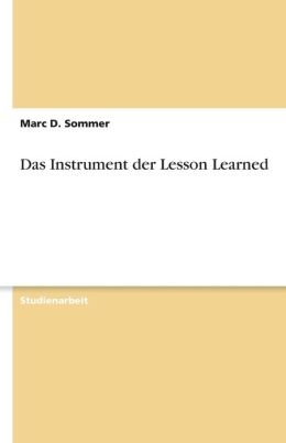 Das Instrument Der Lesson Learned