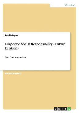 Corporate Social Responsibility - Public Relations