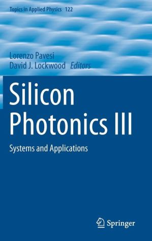 Silicon Photonics III: Systems and Applications