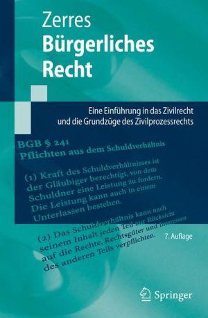 Bürgerliches Recht: Eine Einführung in das Zivilrecht und die Grundzüge des Zivilprozessrechts