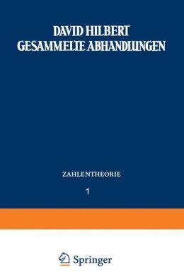 Gesammelte Abhandlungen: Erster Band Zahlentheorie