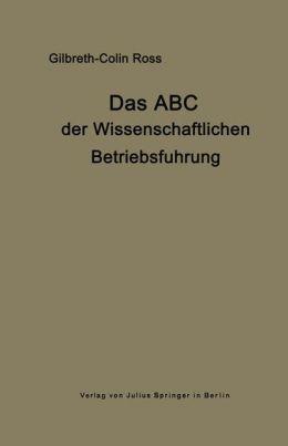 Das ABC der wissenschaftlichen Betriebsführung: Primer of Scientific Management