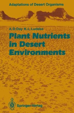 Plant Nutrients in Desert Environments