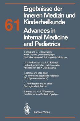 Ergebnisse der Inneren Medizin und Kinderheilkunde / Advances in Internal Medicine and Pediatrics: Neue Folge