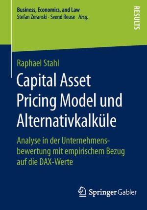Capital Asset Pricing Model und Alternativkalküle: Analyse in der Unternehmensbewertung mit empirischem Bezug auf die DAX-Werte