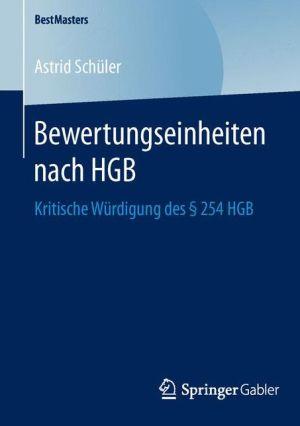 Bewertungseinheiten nach HGB: Kritische Würdigung des § 254 HGB