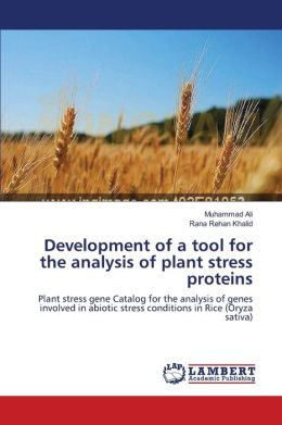 Development of a tool for the analysis of plant stress proteins