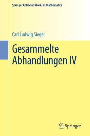 Gesammelte Abhandlungen IV