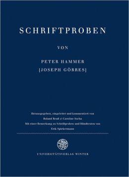 Schriftproben von Peter Hammer: Faksimile des Erstdrucks