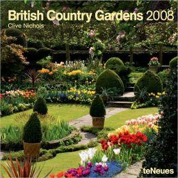 2008 British Country Garden Wall Calendar
