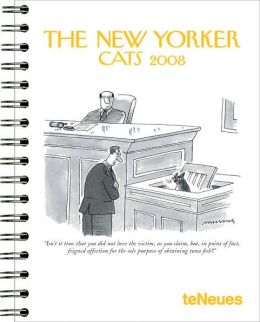 2008 The New Yorker Cats Deluxe Large Engagement Calendar