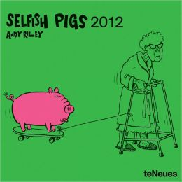 2012 Selfish Pigs Mini Wall Calendar