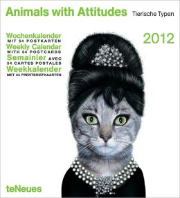2012 Animals with Attitudes Weekly Postcard Calendar