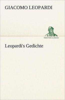 Leopardi's Gedichte