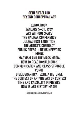 Seth Siegelaub: Beyond Conceptual Art